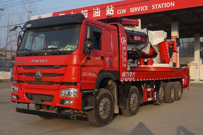 重汽豪沃100-200吨汽车起重机折臂吊