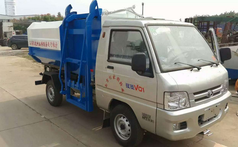 福田驭菱国五挂桶垃圾车视频及图片