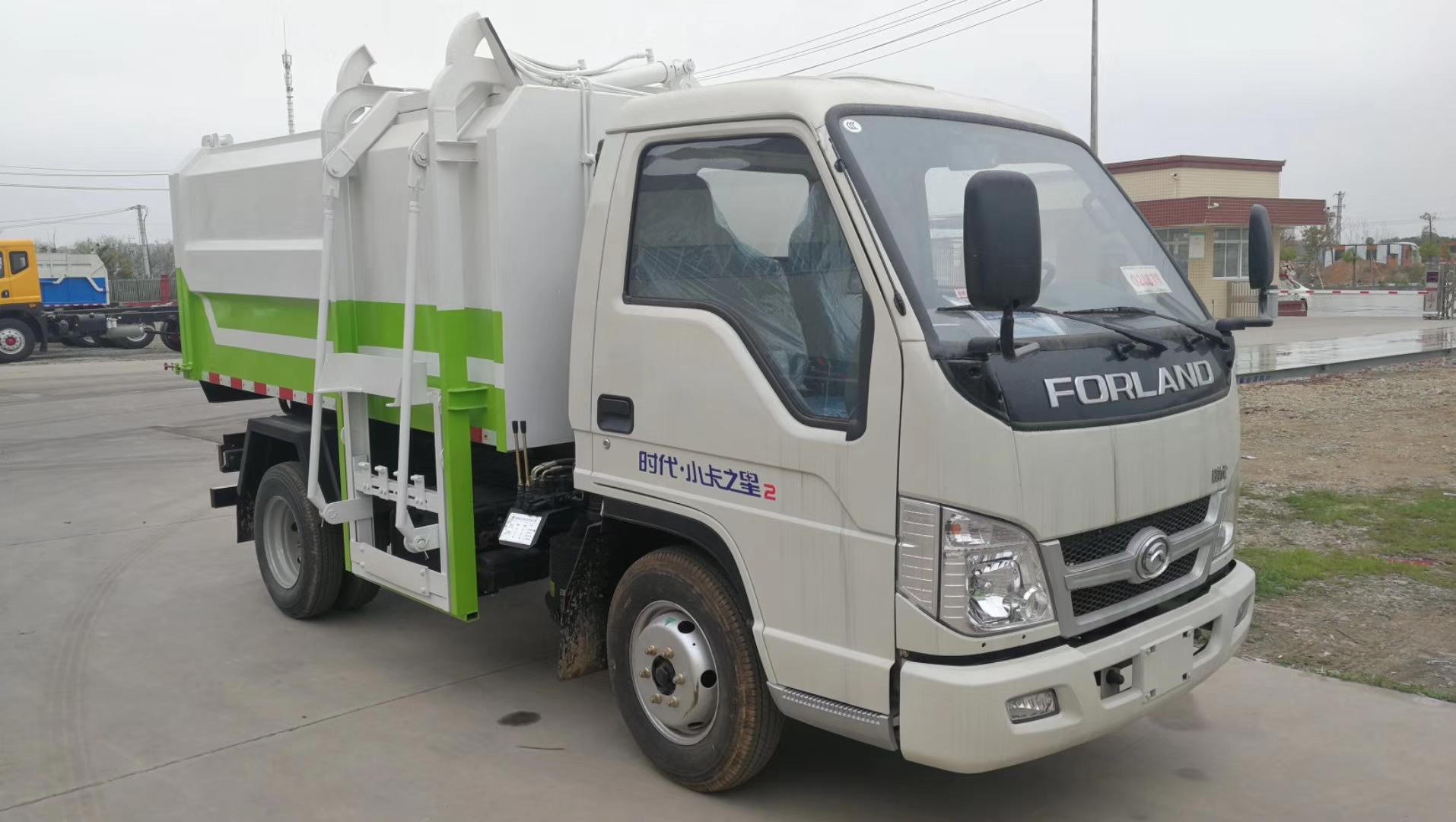 福田时代小卡挂桶式垃圾车图片
