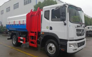 东风D9挂桶式垃圾车/乡镇垃圾车收集车图片