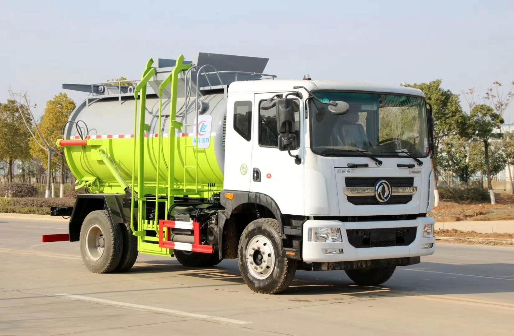 餐厨垃圾车8.5方泔水车带干湿分离带加热功能价格