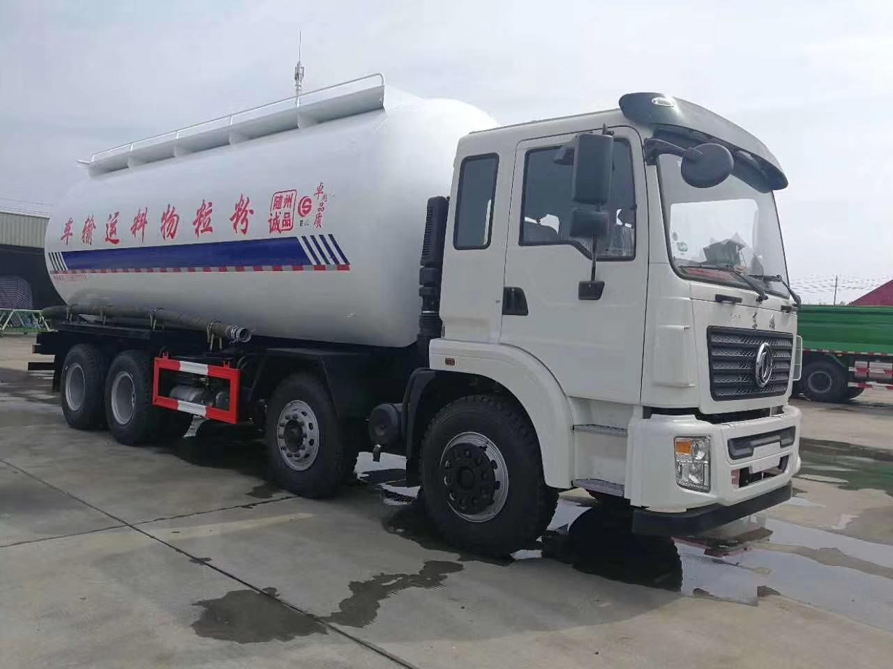 陕汽轩德8X4干混砂浆运输车图片