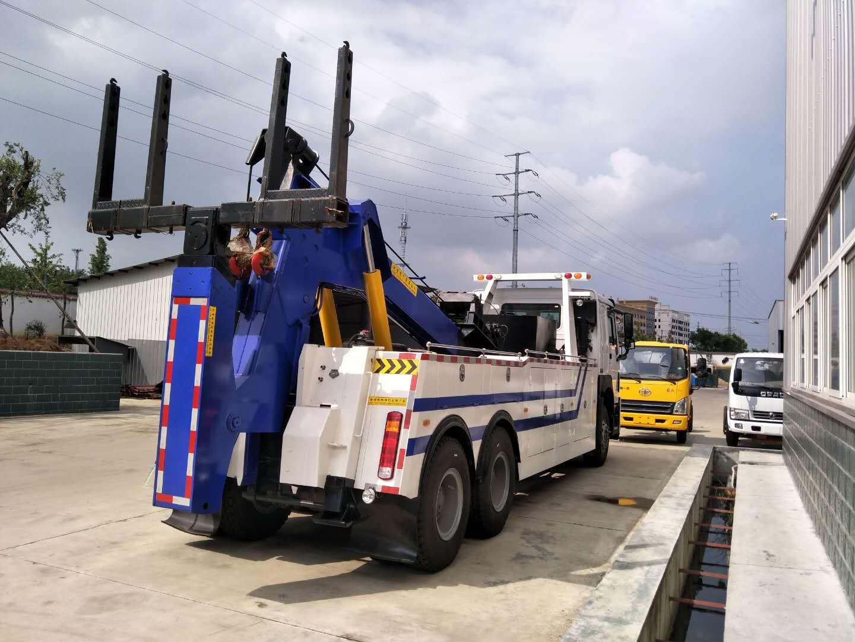 重汽豪沃340拖吊联体清障车后双桥