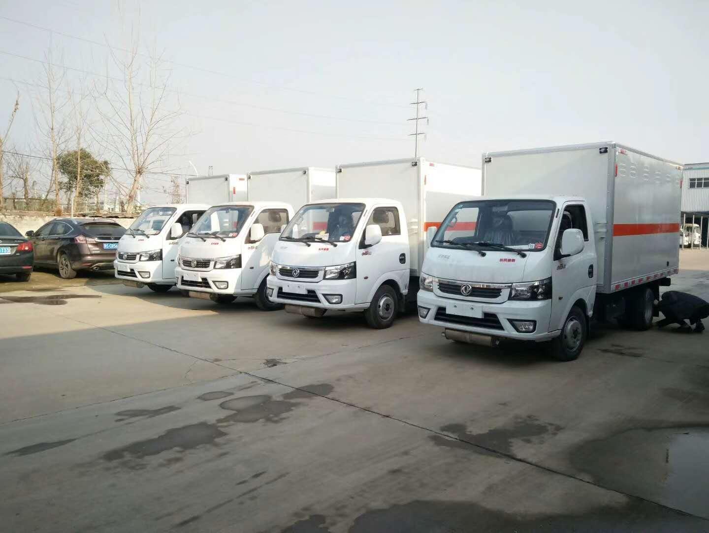 东风途逸易燃气体厢式运输车生产厂家