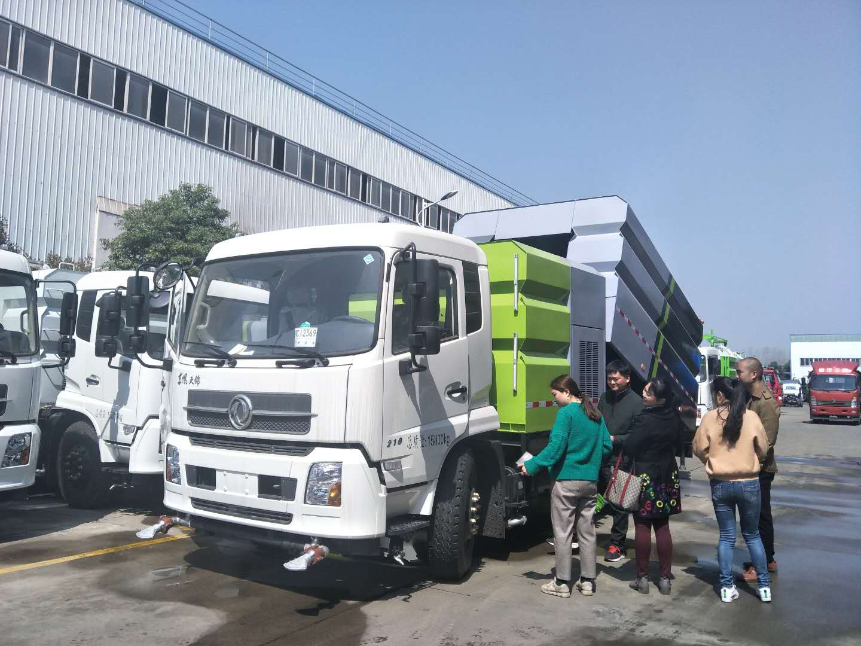 东风天锦大洗扫车视频