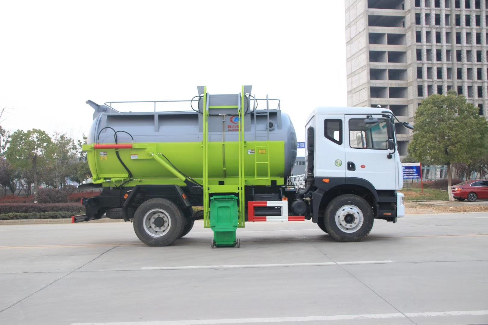东风D9餐厨垃圾车,市面上最大的罐式餐厨垃圾车图片
