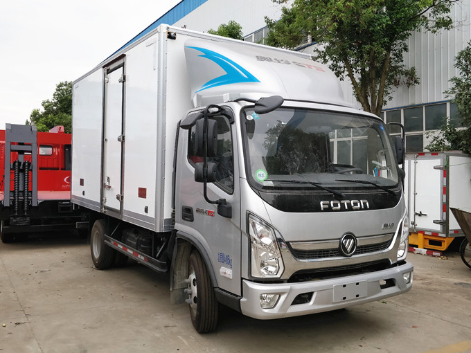 福田奥铃新款厢长4.1米蓝牌冷藏车