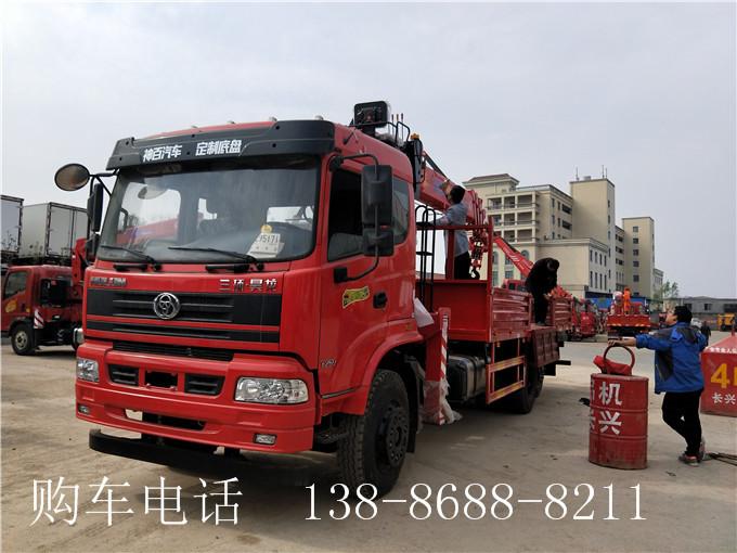三环吴龙12吨长兴随车吊1