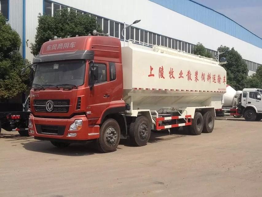 东风天龙40方20吨散装饲料车