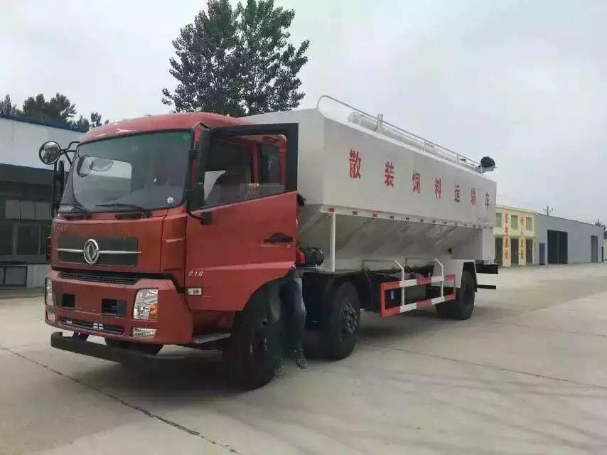 东风柳汽24方14吨饲料运输车