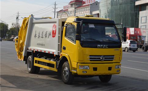 全新压缩垃圾车全新工艺360度无盲角特写!更多配置和价格