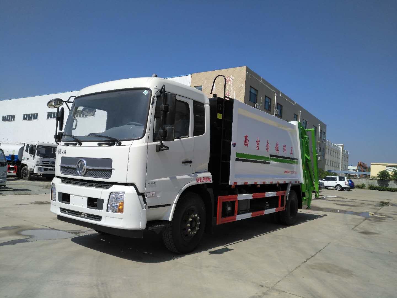 东风天锦10吨后装压缩垃圾车厂家直销视频
