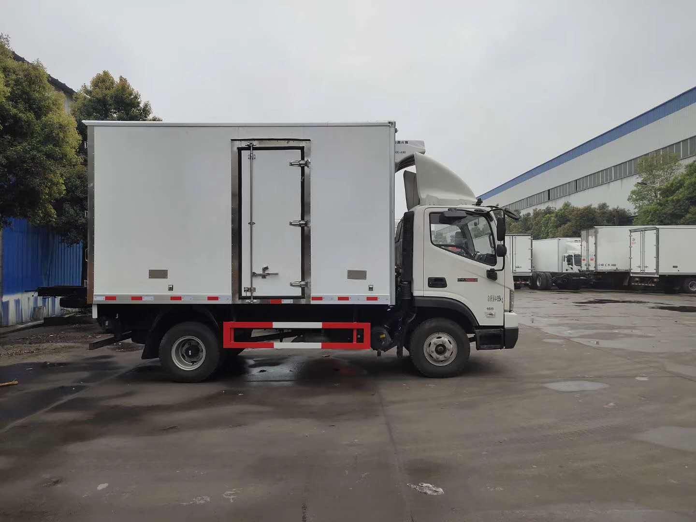 蓝牌福田4.2米厢体冷藏车冷冻肉冷藏运输车图片图片
