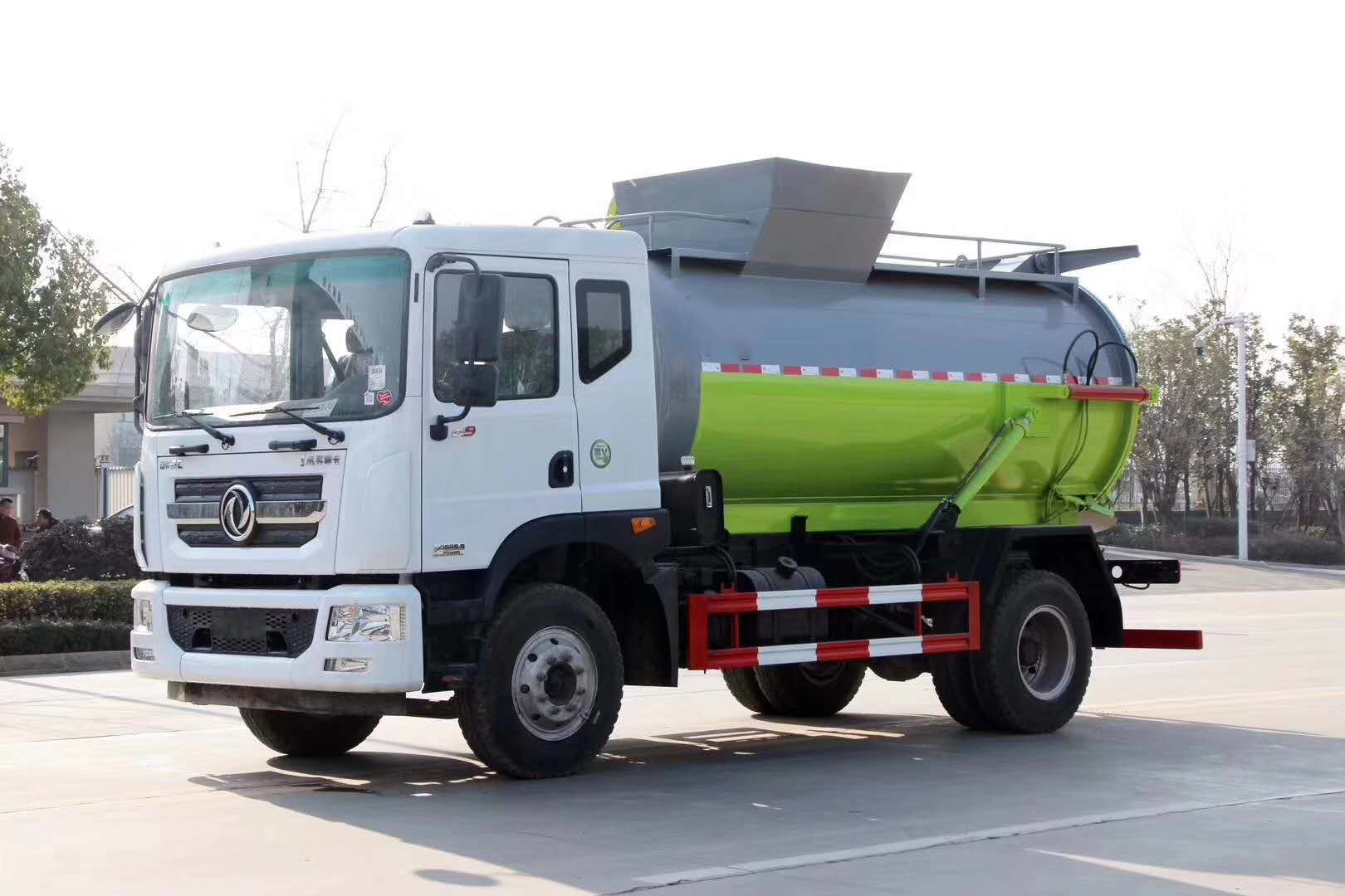 东风D9餐厨垃圾车 泔水垃圾车厂家 12方餐厨垃圾车图片