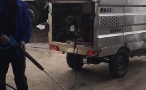本田发动机三轮高压清洗车