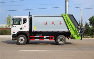东风D9压缩式垃圾车,10方压缩式垃圾车图片