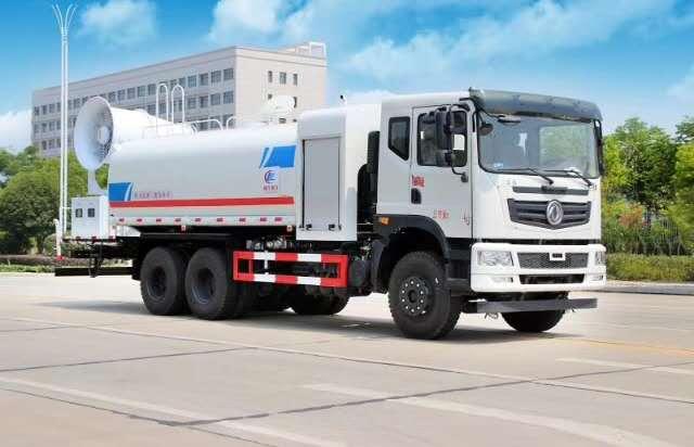 东风御龙T5款15吨水配100米雾炮效果视频
