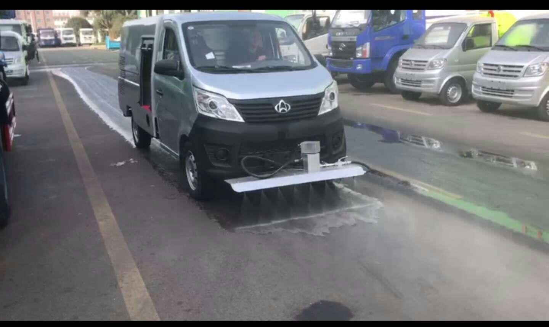 长安小型蓝牌路面清洗车厂家视频