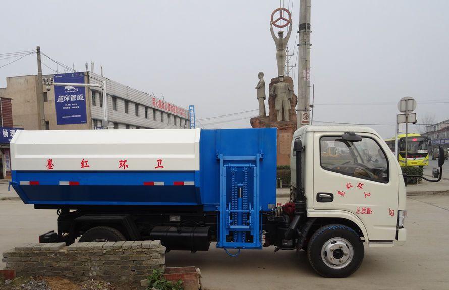【河南垃圾车】东风多利卡5方挂桶垃圾车价格/图片图片