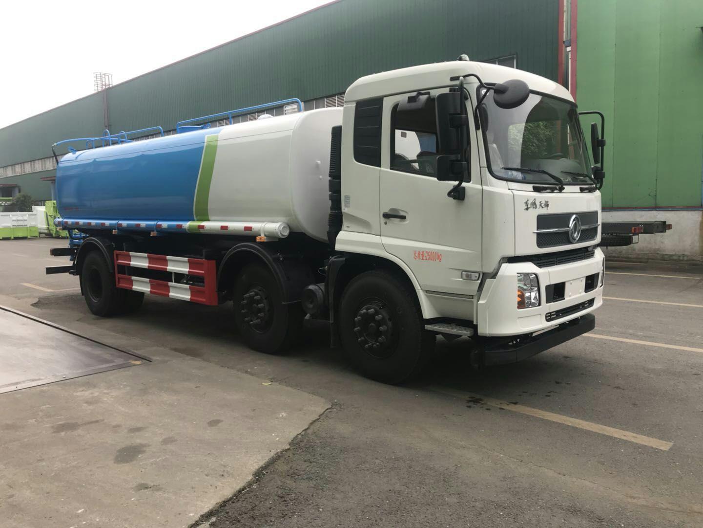 湖北新中绿厂家东风天锦18吨洒水车配置图片
