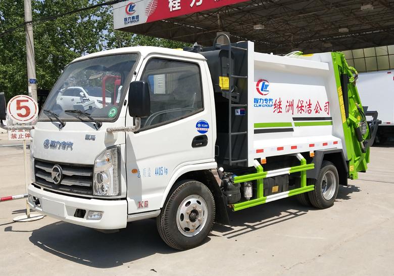 3-4方藍牌凱馬壓縮垃圾車