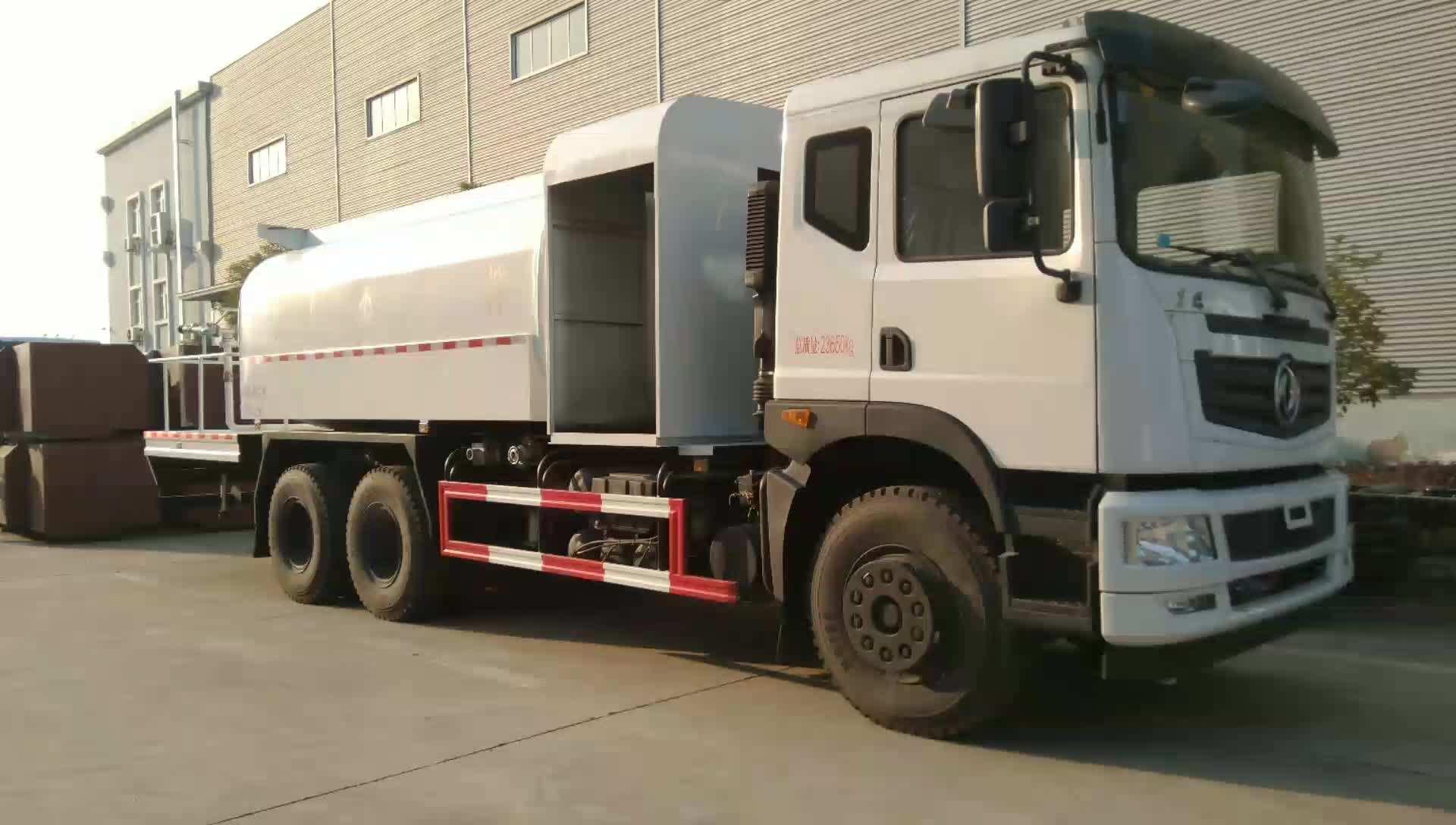 牛! 东风T5后八轮16吨80米抑尘车现场作业视频图片
