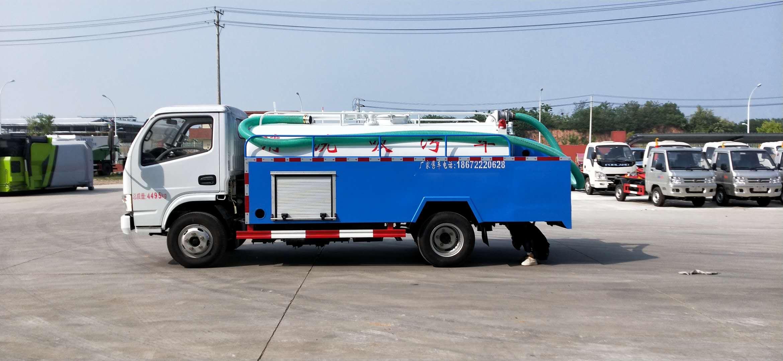 东风5.5吨清洗吸粪车厂家价格多少钱图片
