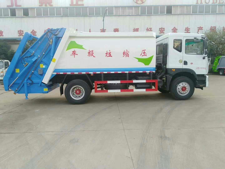 新中绿东风10吨压缩垃圾车多少钱效果如何视频