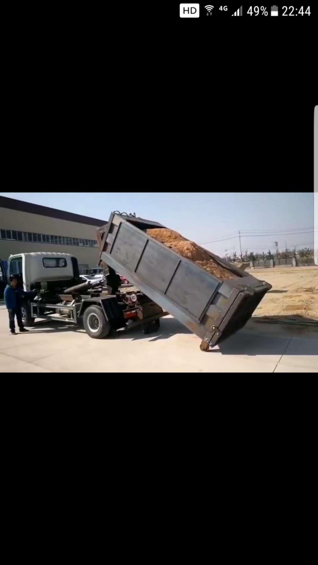 东风小多利卡勾臂(伸缩臂)垃圾车价格视频视频