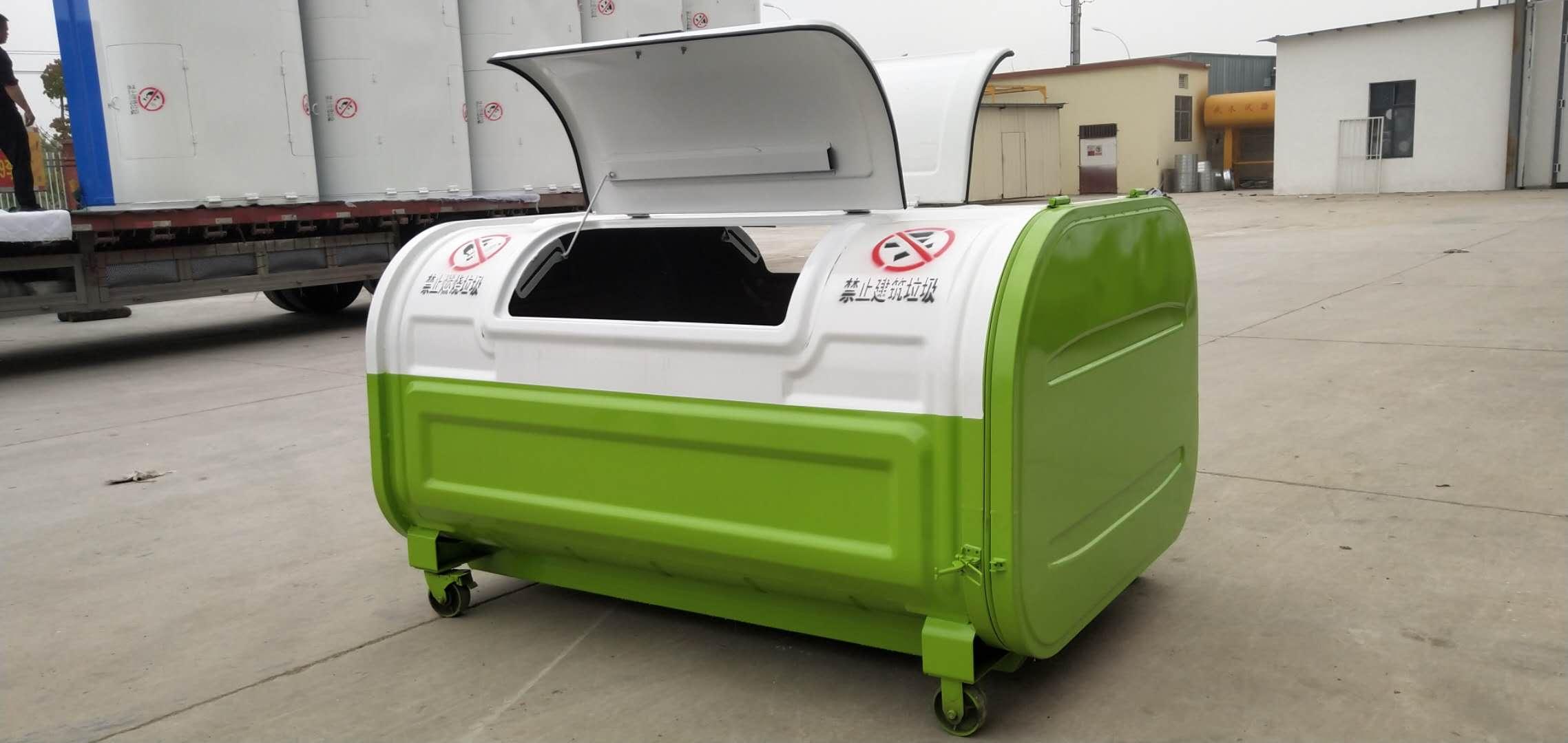 3方勾臂垃圾箱生产厂家图片