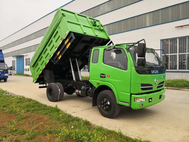 可进市区的蓝牌自卸式垃圾车图片
