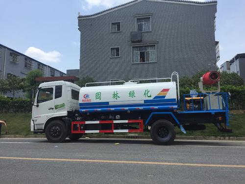 12噸東風天錦灑水車價格30米柴油霧炮車廠家報價圖片