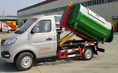 云南昭通长安3方勾臂垃圾车多少钱  值得信赖的3方勾臂式垃圾车厂家湖北程力