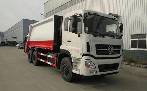 东风天龙16吨压缩垃圾车视频-报价-参数