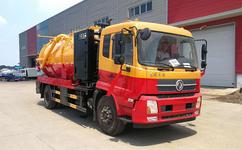 东风天锦清洗吸污车、泥浆抽污淤泥运输车(带副发动机)