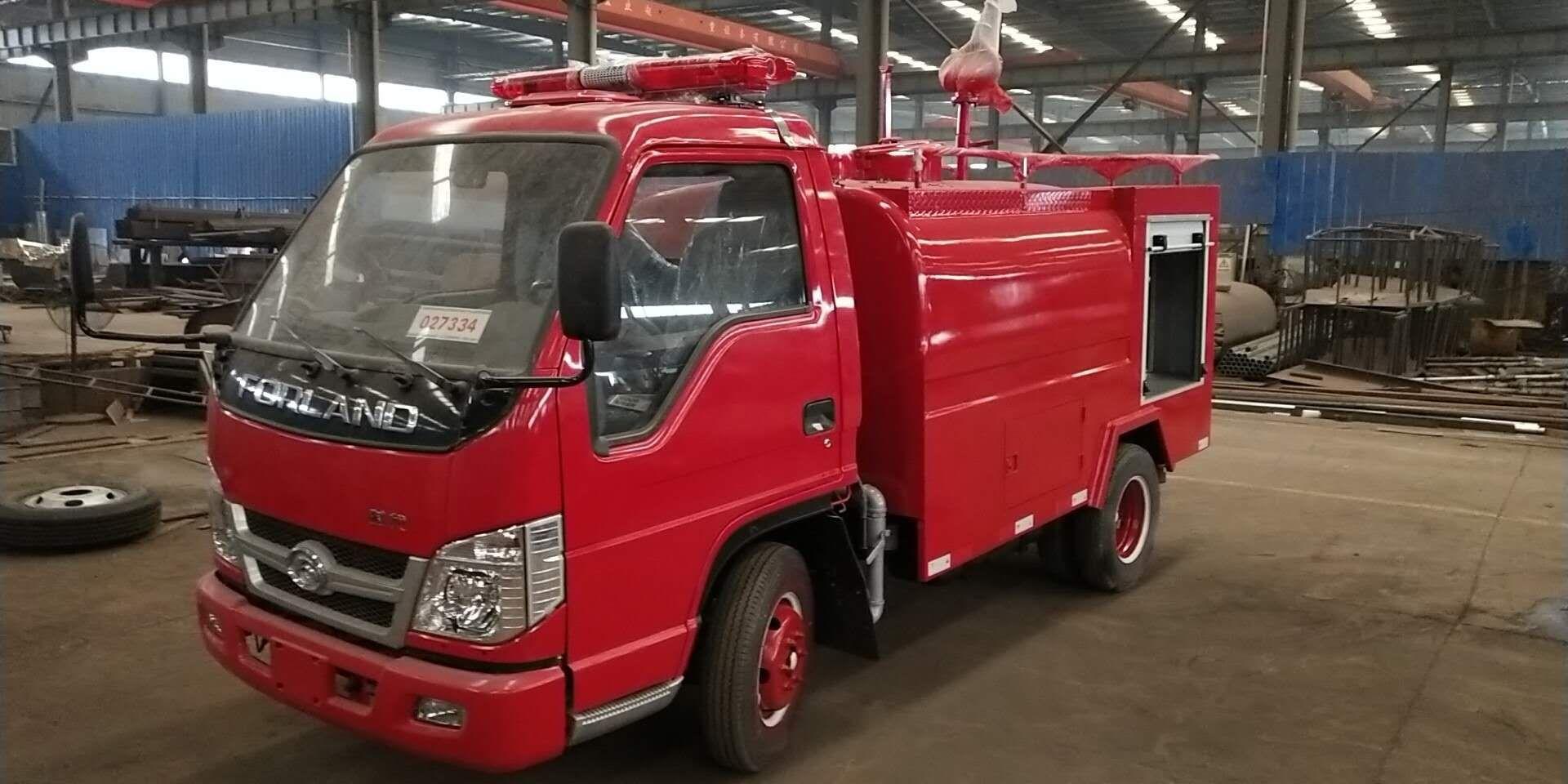 福田小卡2吨消防洒水车