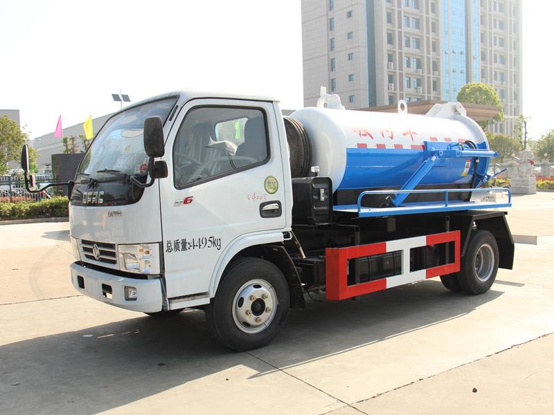 東風2.5方藍牌吸污車(水循環泵)