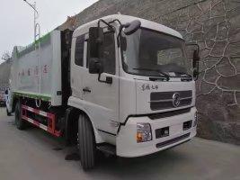 东风天锦后装14吨压缩垃圾车