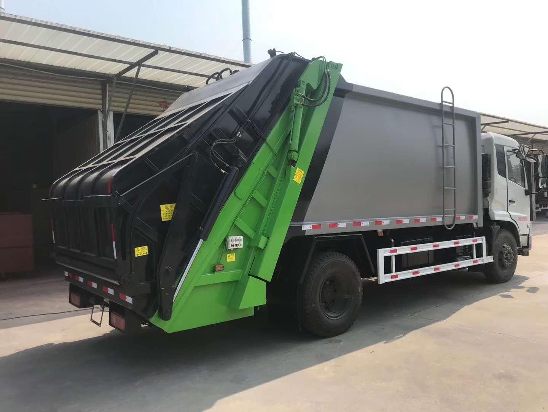 东风天锦14方压缩垃圾车 单桥里最大的垃圾车图片