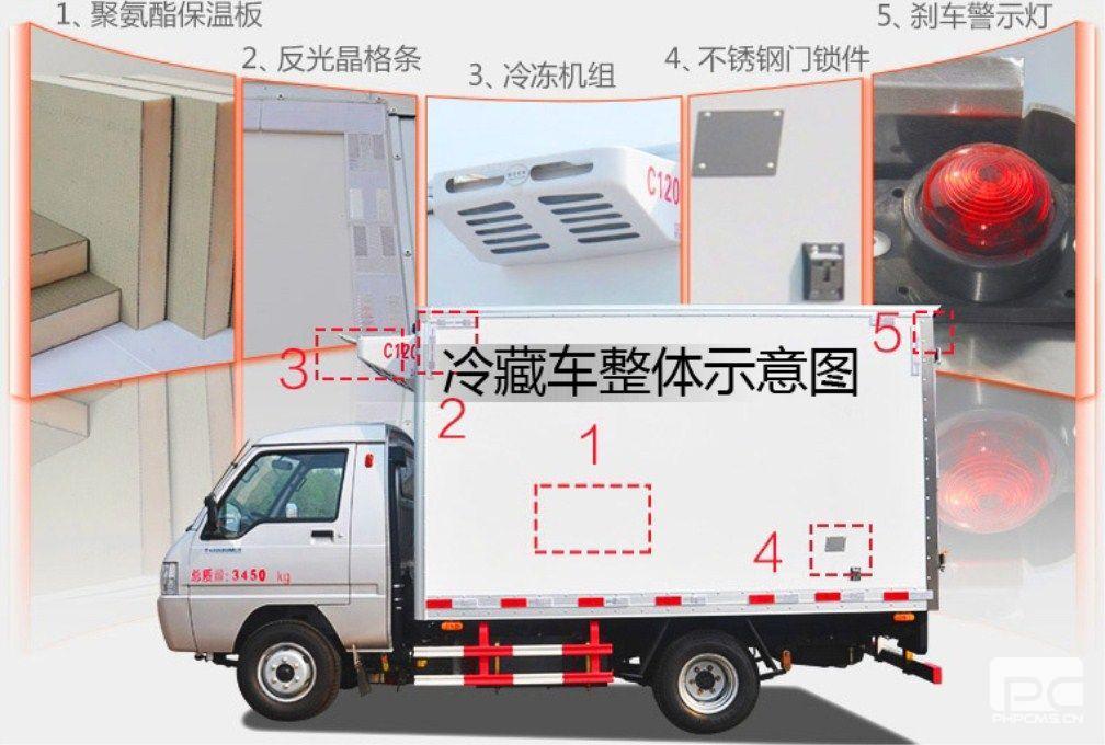 福田驭菱冷藏车整车示意图