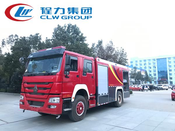 重汽8噸水罐消防車
