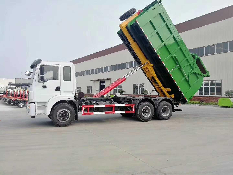 勾臂垃圾车翼展垃圾车对接垃圾车自卸一体车图片