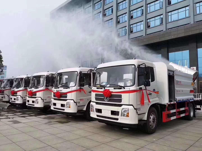 东风天锦12方罐体安装80米喷雾机,