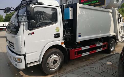 东风大多利卡智能压缩式垃圾车8方多少钱视频