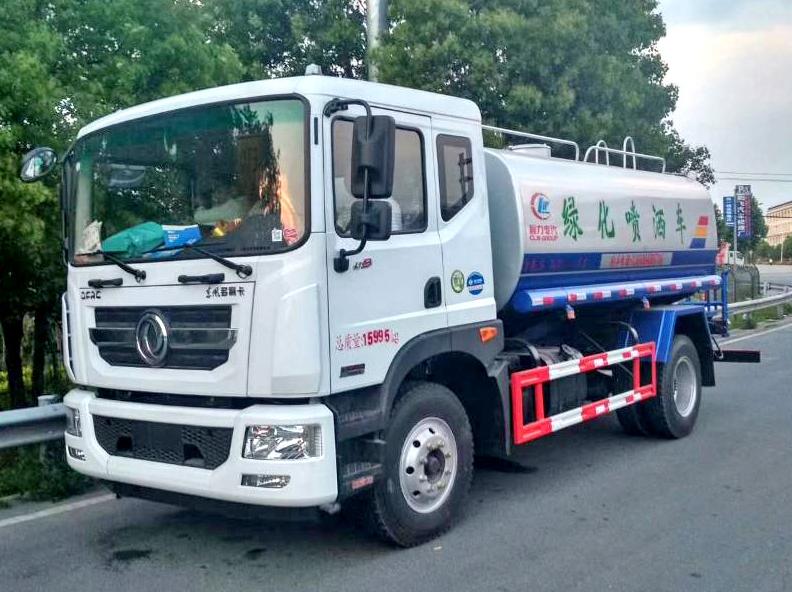 东风12吨绿化洒水车康机180马力