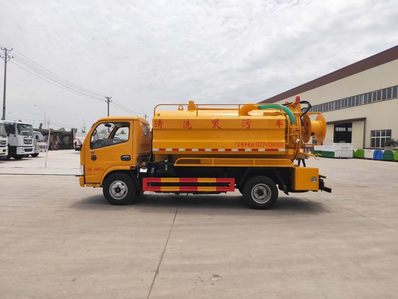新款蓝牌玉柴115马力  6吨清洗吸污车配置