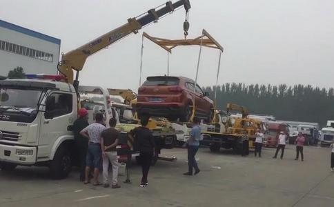 湖北程力東風多利卡清障車帶徐工隨車吊廠家操作視頻