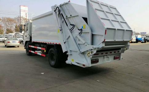 垃圾車工作視頻 推板卸料 廠家測試