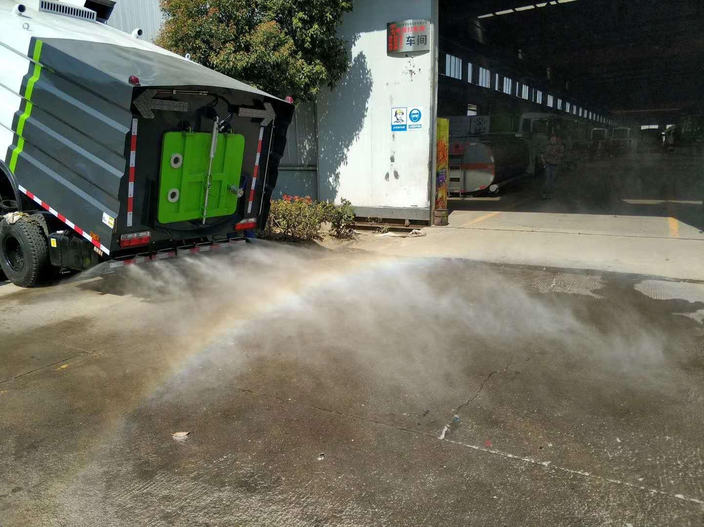 洗掃車加裝高壓霧炮,降塵除霾