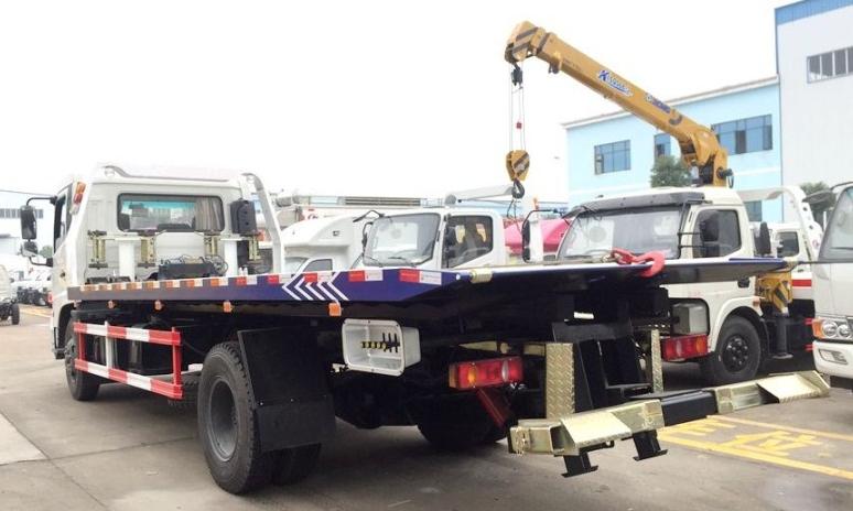 东风天锦一拖二清障车  板长7.2米 (3)